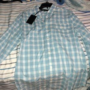 Five Four Blue Checkered Button Down